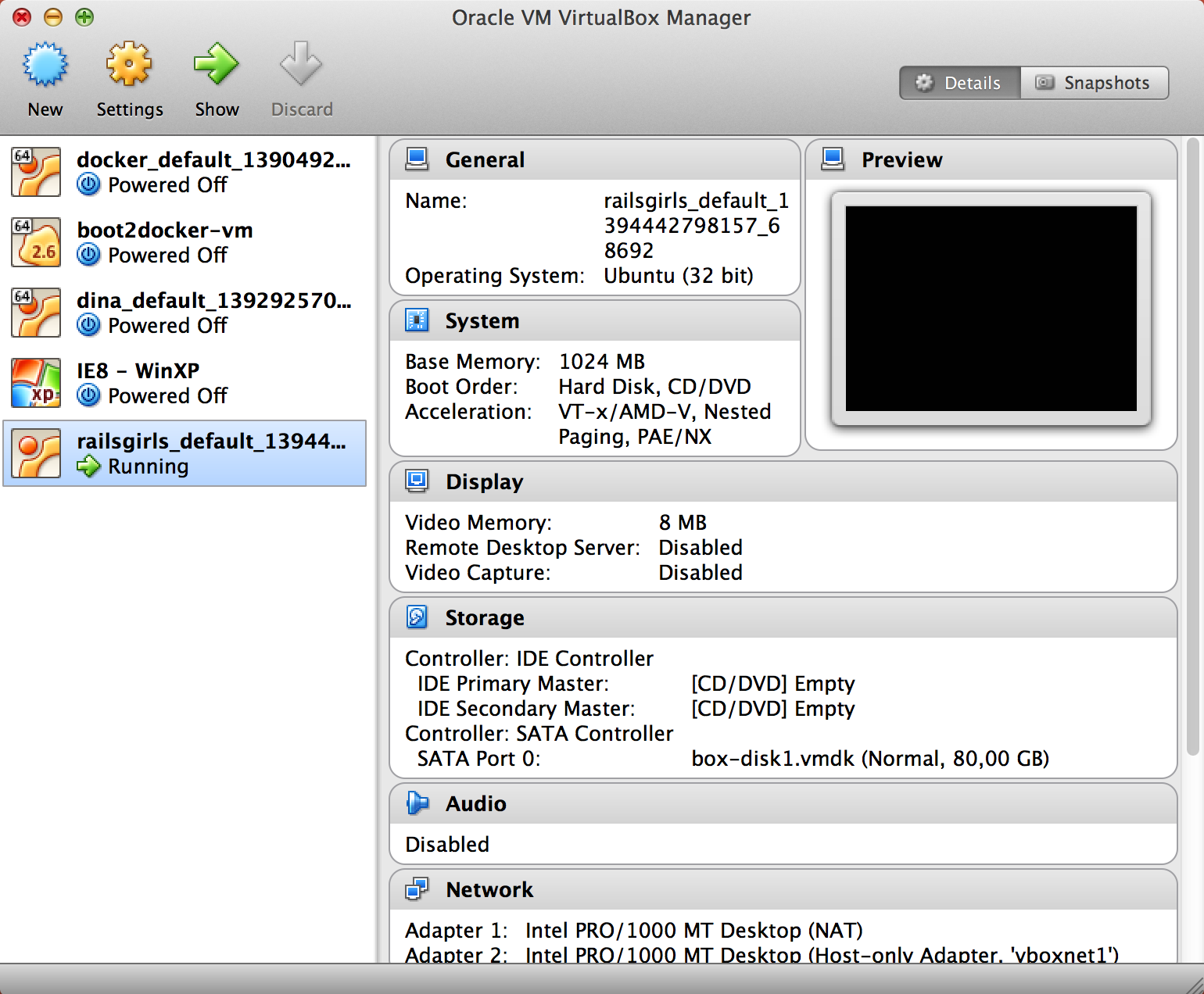 Virtualbox / Starting VM